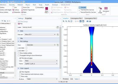 مدلسازی اجکتور در نرم افزار COMSOL