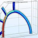 مدلسازی شبکه رگ های خونی در نرم افزار COMSOL