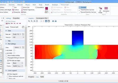 مدلسازی میکروپمپ بدون شیر در نرم افزار COMSOL