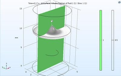 مدلسازی صعود قطره روغن در نرم افزار COMSOL