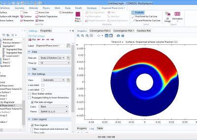 مدل سازی جریان مخلوط سیال و ذرات جامد(سوسپانسیون) در نرم افزار COMSOL