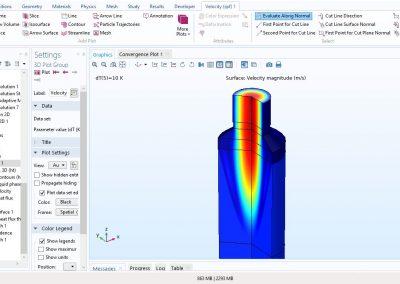 مدل سازی فرایند ریخته گری پیوسته یک میله فلزی