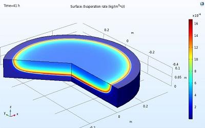 مدلسازی خشک کن تحت خلا در نرم افزار COMSOL