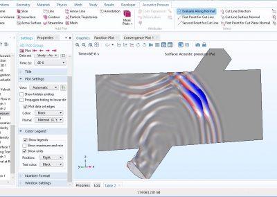مدل سازی فلومتر فراصوتی(Ultrasound Flowmeter) در نرم افزار COMSOL