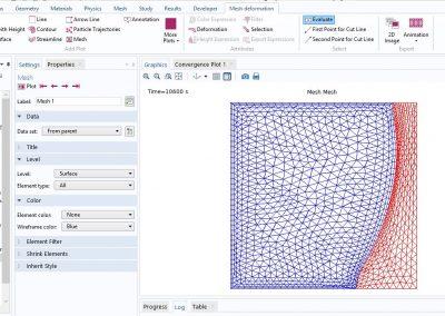 مدل سازی فرایند ذوب قلع در نرم افزار COMSOL