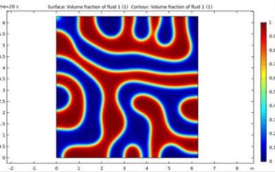 مدل سازی فرایند جداسازی فاز در نرم افزار COMSOL